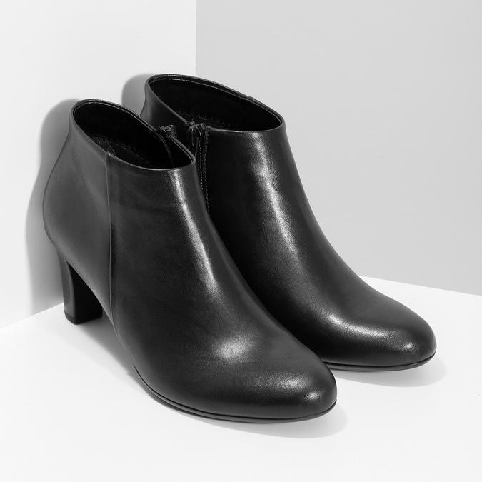 Czarne botki damskie na obcasach gabor, czarny, 714-6013 - 26