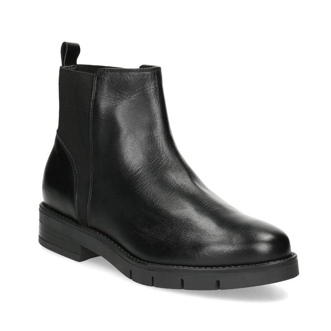 Skórzane damskie sztyblety czarne flexible, czarny, 594-6667 - 13
