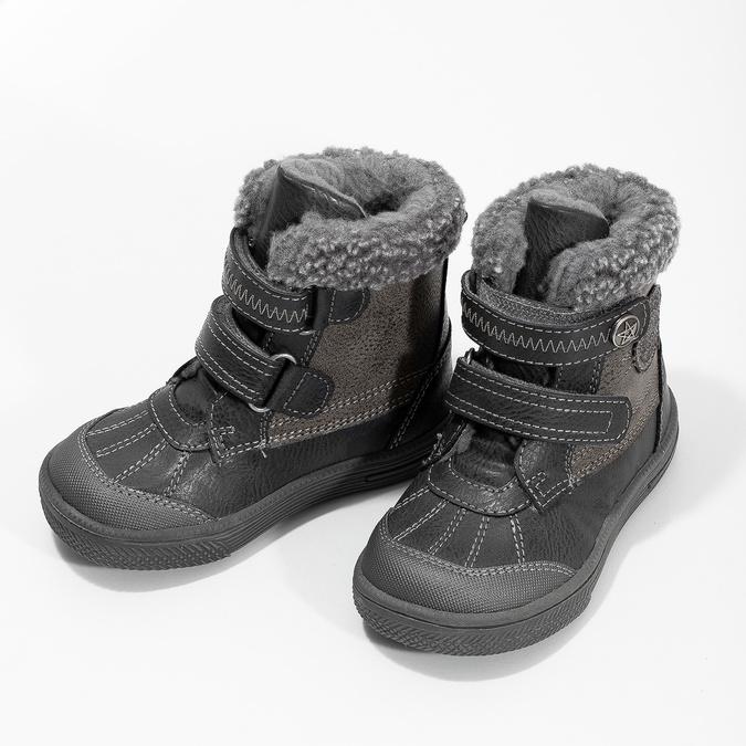Zimowe buty dziecięce zociepliną bubblegummer, szary, 191-4619 - 16