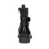 Czarne skórzane kozaki zmetalowymi ćwiekami bata, czarny, 594-6671 - 15