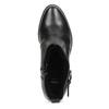Czarne skórzane kozaki zmetalowymi ćwiekami bata, czarny, 594-6671 - 17