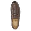 Brązowe skórzane mokasyny wstylu penny loafers comfit, brązowy, 814-3627 - 17