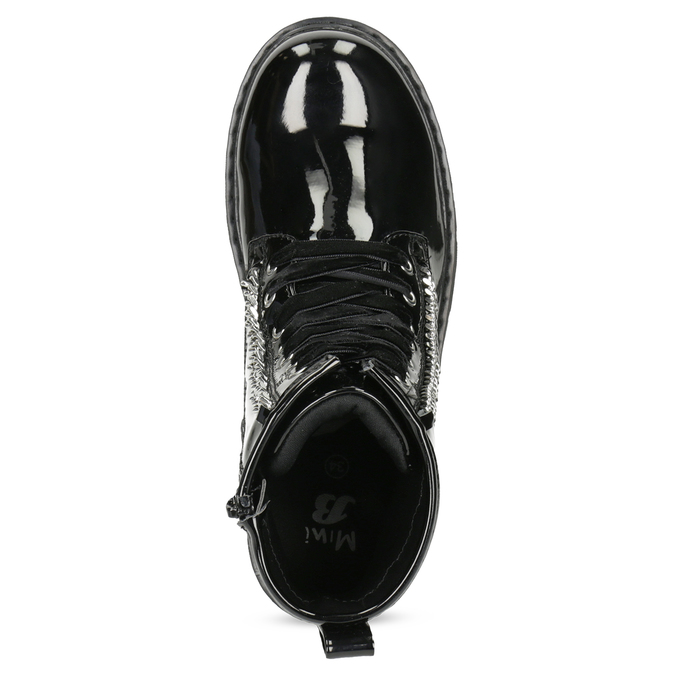 Zimowe błyszczące botki dziewczęce mini-b, czarny, 391-6170 - 17