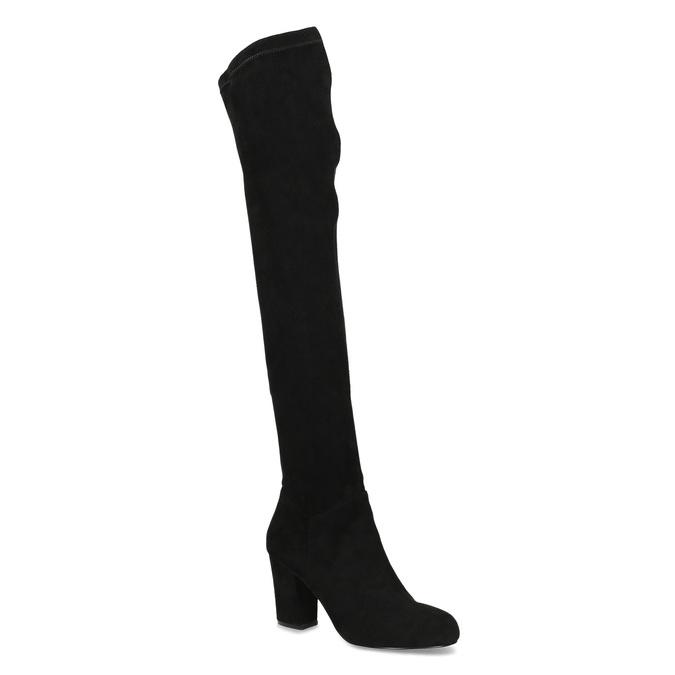 Czarne kozaki damskie za kolana bata, czarny, 799-6638 - 13