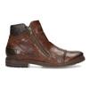 Brązowe skórzane obuwie męskie za kostkę zzamkami błyskawicznymi bugatti, brązowy, 816-4026 - 19
