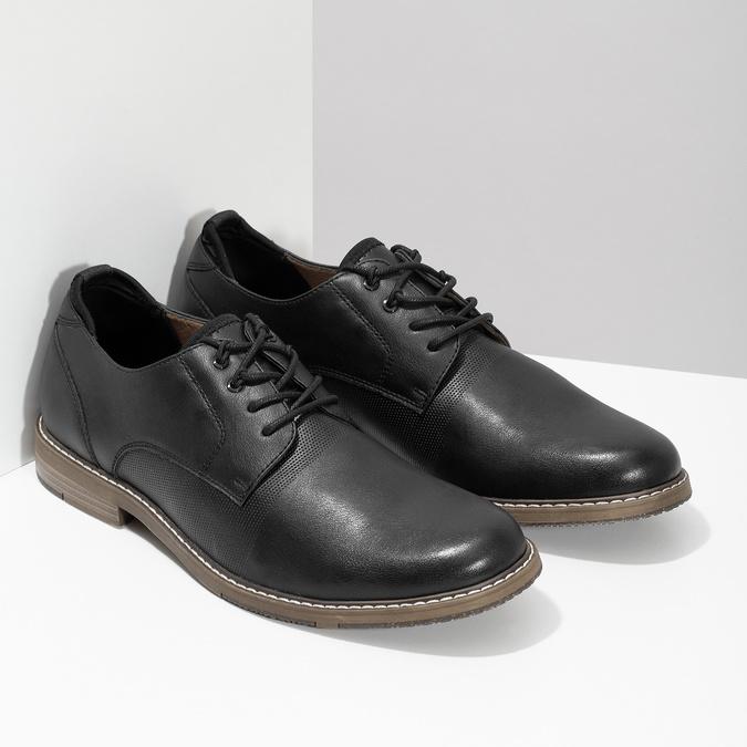 Granatowe półbuty męskie bata-red-label, czarny, 821-9609 - 26