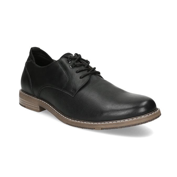 Granatowe półbuty męskie bata-red-label, czarny, 821-9609 - 13