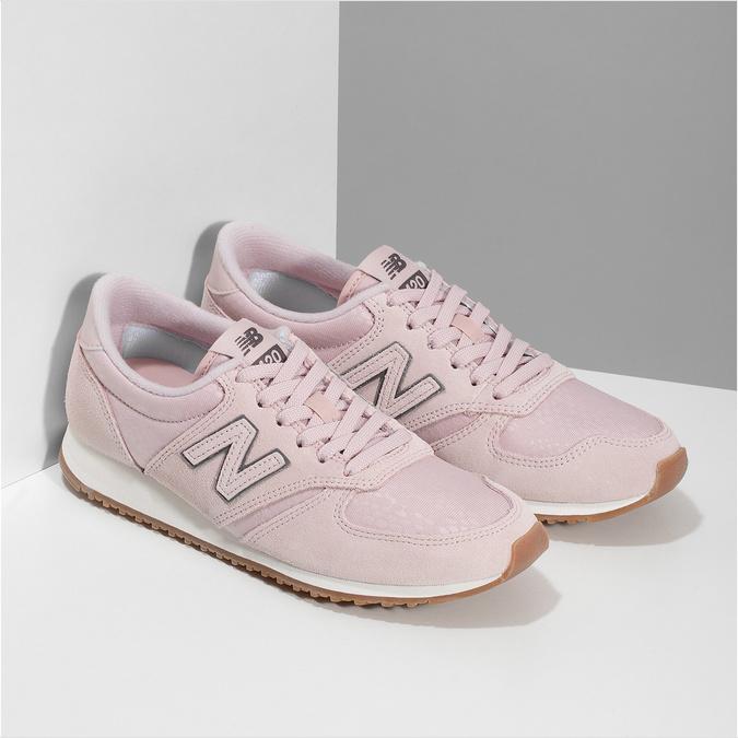 Różowe zamszowe trampki damskie new-balance, różowy, 503-5172 - 26