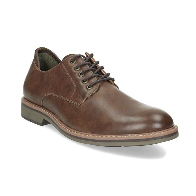 Brązowe półbuty męskie bata-red-label, brązowy, 821-4606 - 13