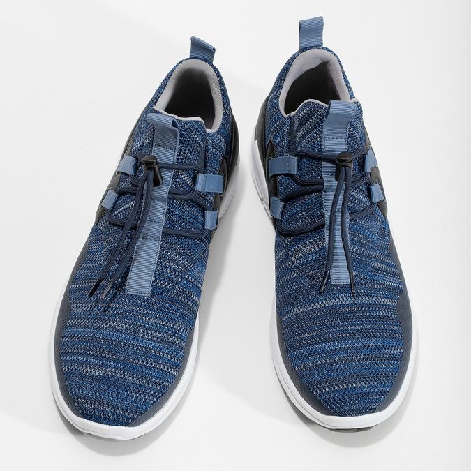 Granatowe wsuwane trampki bata-red-label, niebieski, 841-9620 - 16