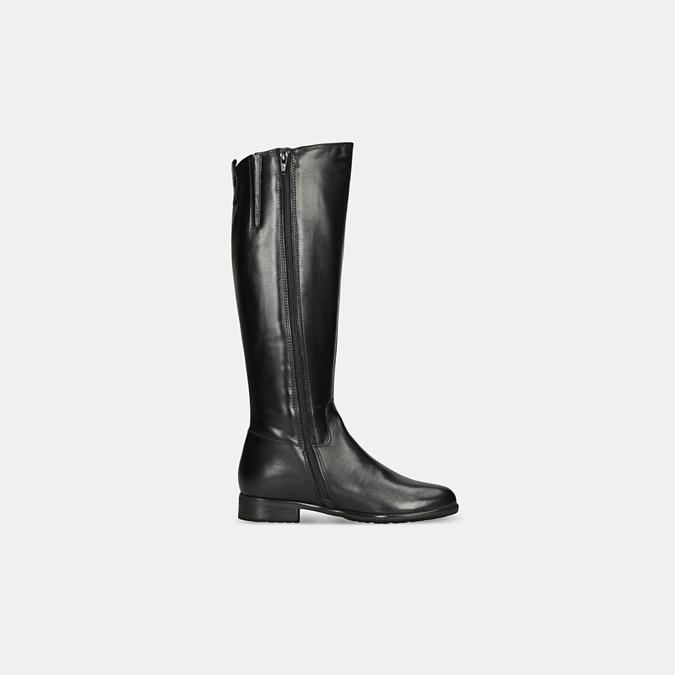 Czarne skórzane kozaki zklamrami bata, czarny, 594-6675 - 15