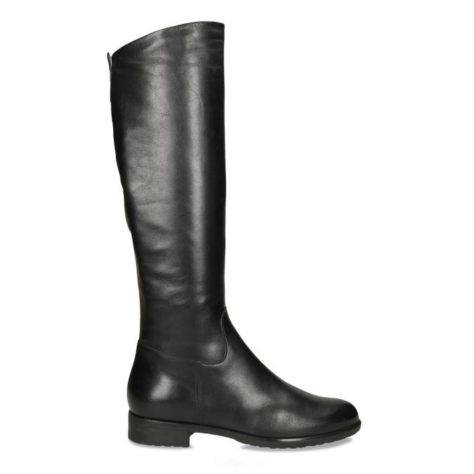 Czarne skórzane kozaki zklamrami bata, czarny, 594-6675 - 19