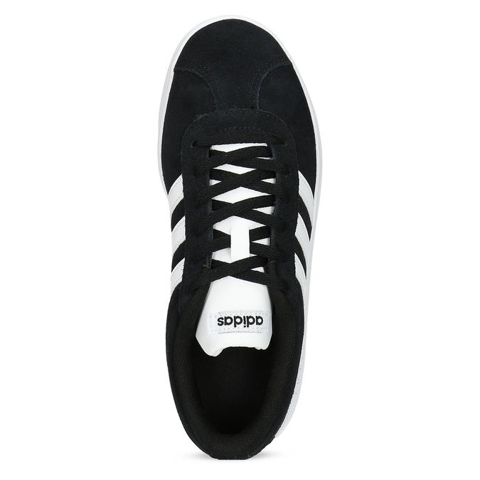 Czarne skórzane trampki dziecięce adidas, czarny, 403-6361 - 17