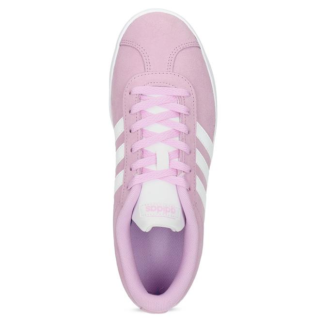 Różowe skórzane trampki dziecięce adidas, różowy, 403-5361 - 17