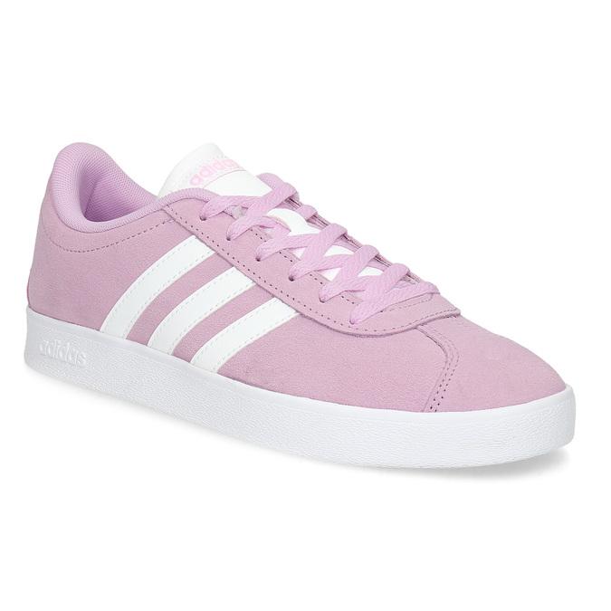 Różowe skórzane trampki dziecięce adidas, różowy, 403-5361 - 13