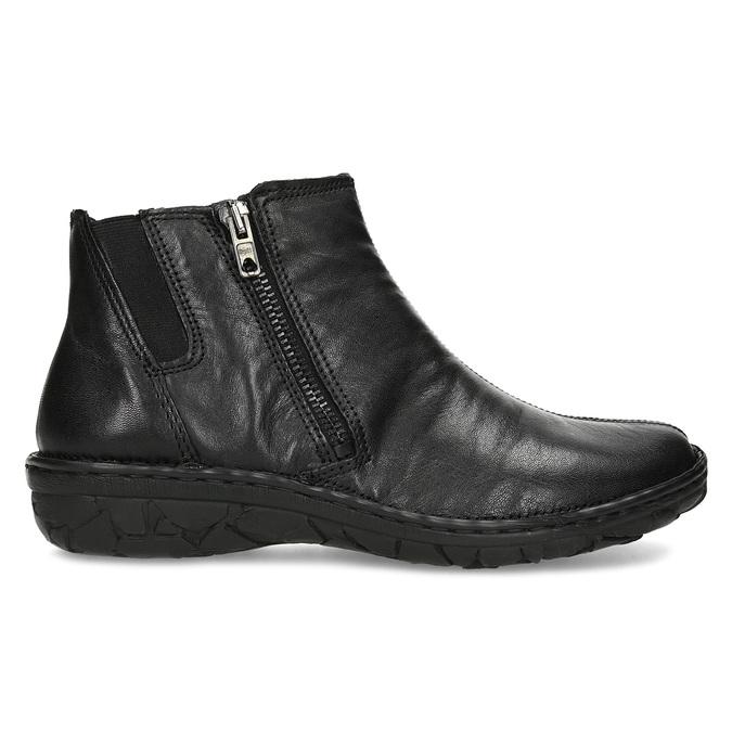 Zimowe skórzane botki damskie bata, czarny, 594-6708 - 19