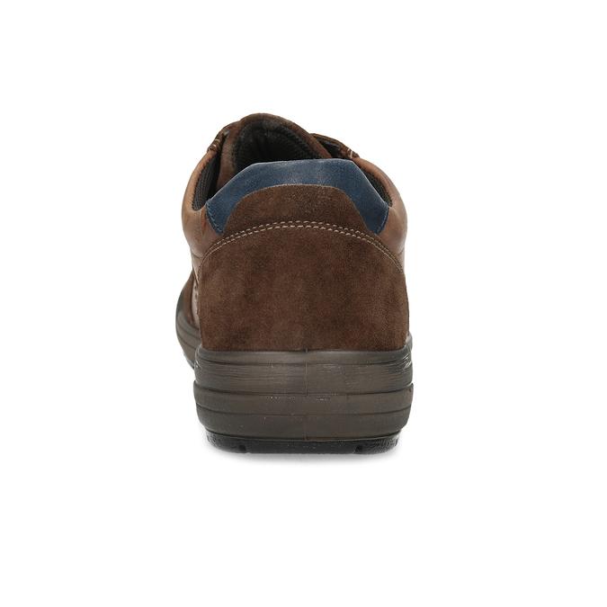 Brązowe skórzane trampki męskie bata, brązowy, 846-4714 - 15