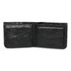 Skórzany portfel męski zobszyciem bata, czarny, 944-6214 - 15