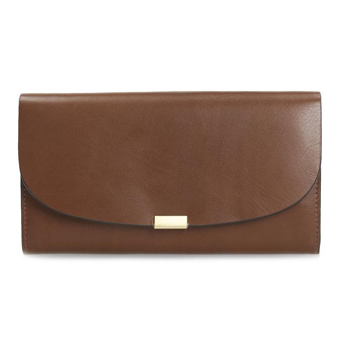 Brązowy skórzany portfel damski bata, brązowy, 944-3228 - 26