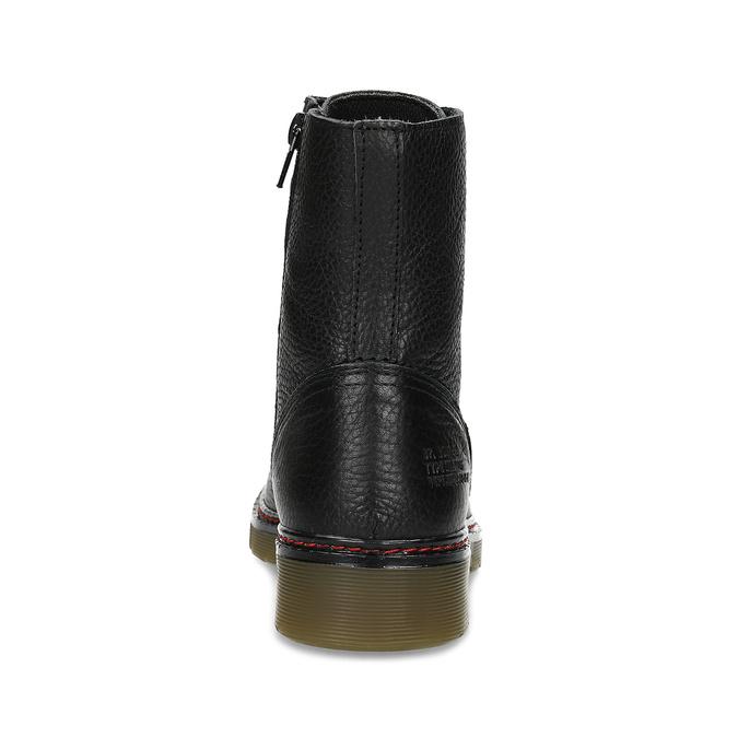 Czarne skórzane obuwie damskie typu chelsea bata, czarny, 596-6732 - 15