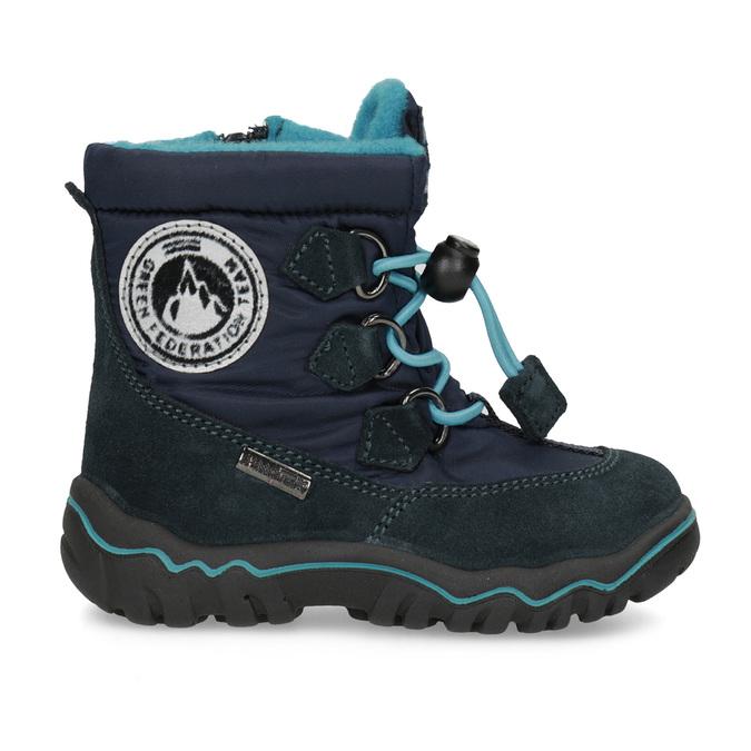 Granatowe zimowe obuwie dziecięce, niebieski, 199-9604 - 19