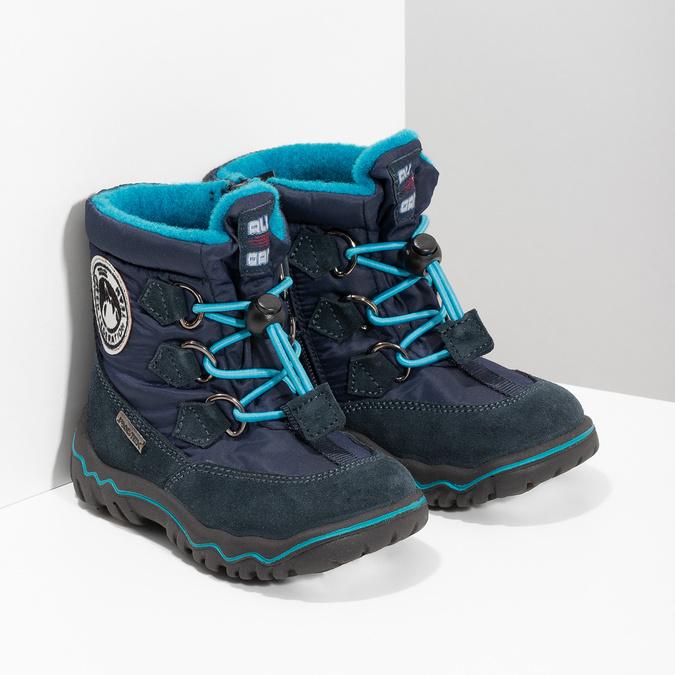 Granatowe zimowe obuwie dziecięce, niebieski, 199-9604 - 26