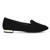 Skórzane loafersy damskie zperforacją rockport, czarny, 513-6036 - 19