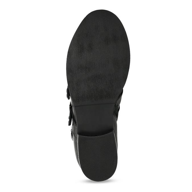 Czarne skórzane kozaki zmetalowymi ćwiekami steve-madden, czarny, 514-6025 - 18