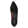 Skórzane loafersy damskie zperforacją rockport, czarny, 513-6036 - 17