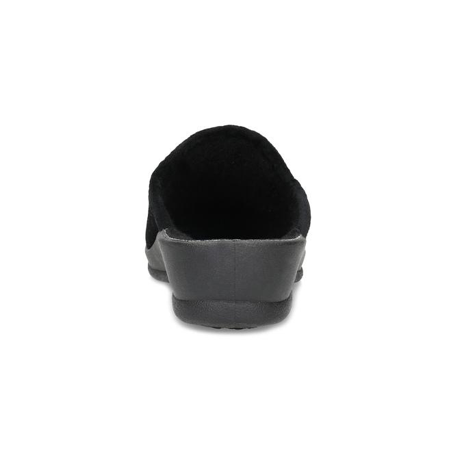 Czarne kapcie damskie bata, czarny, 579-6631 - 15
