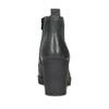 Skórzane sznurowane botki damskie bata, czarny, 796-6653 - 15