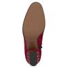 Czerwone skórzane botki zćwiekami bata, czerwony, 723-5661 - 18