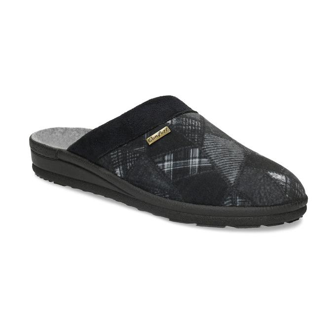 Czarne kapcie męskie bata, czarny, 879-6619 - 13