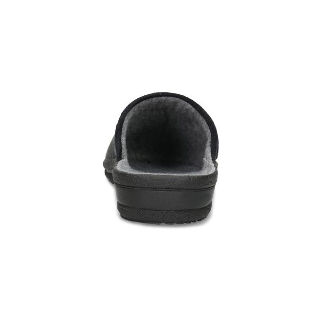 Czarne kapcie męskie bata, czarny, 879-6619 - 15