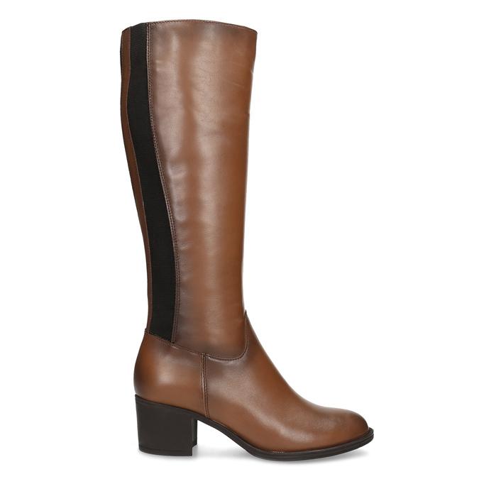 Brązowe skórzane kozaki damskie bata, brązowy, 694-4668 - 19