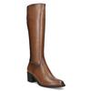 Brązowe skórzane kozaki damskie bata, brązowy, 694-4668 - 13