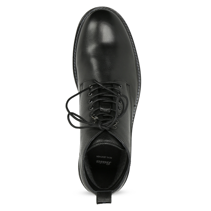 Czarne skórzane obuwie męskie za kostkę bata, czarny, 894-6721 - 17