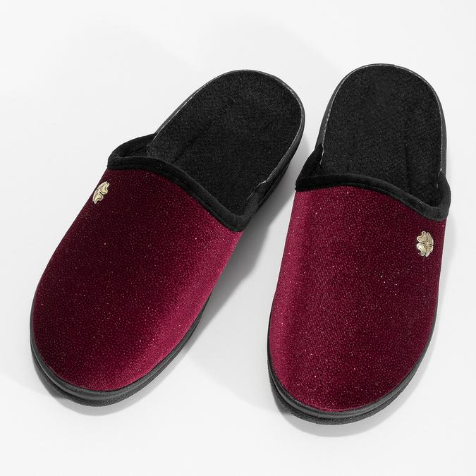 Czerwone kapcie damskie bata, czerwony, 579-5631 - 16