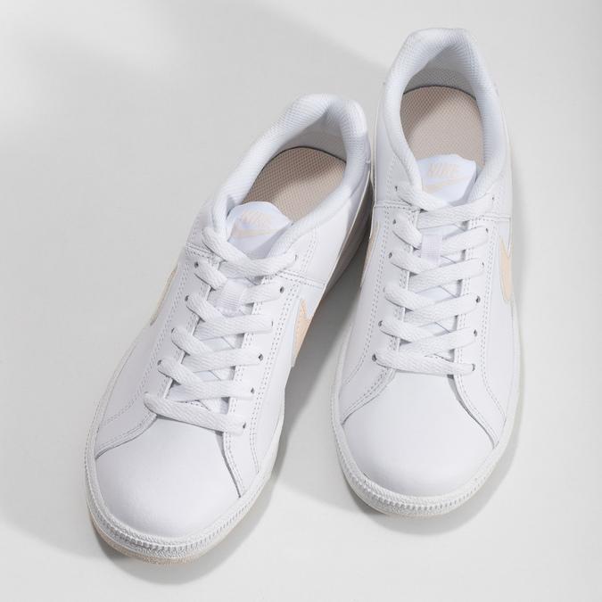 Białe nieformalne trampki damskie nike, biały, 501-1125 - 16