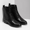 Czarne skórzane kozaki damskie bata, czarny, 594-6718 - 26