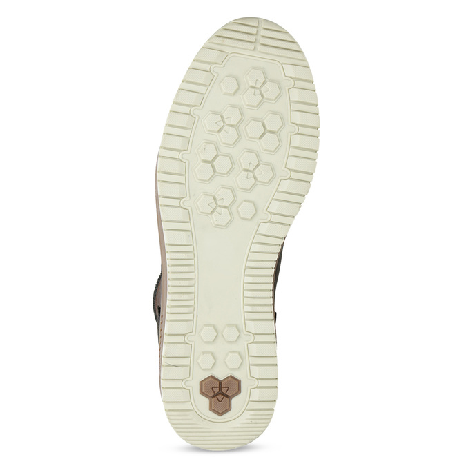 Zimowe skórzane obuwie męskie za kostkę bata, brązowy, 896-3712 - 18