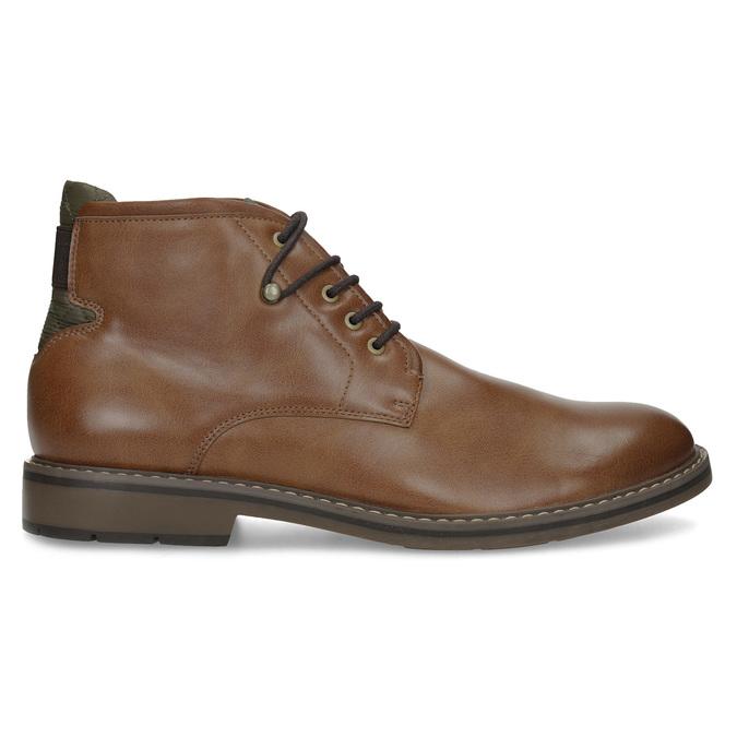 Brązowe obuwie męskie za kostkę, zelastycznymi wstawkami bata-red-label, brązowy, 821-3610 - 19