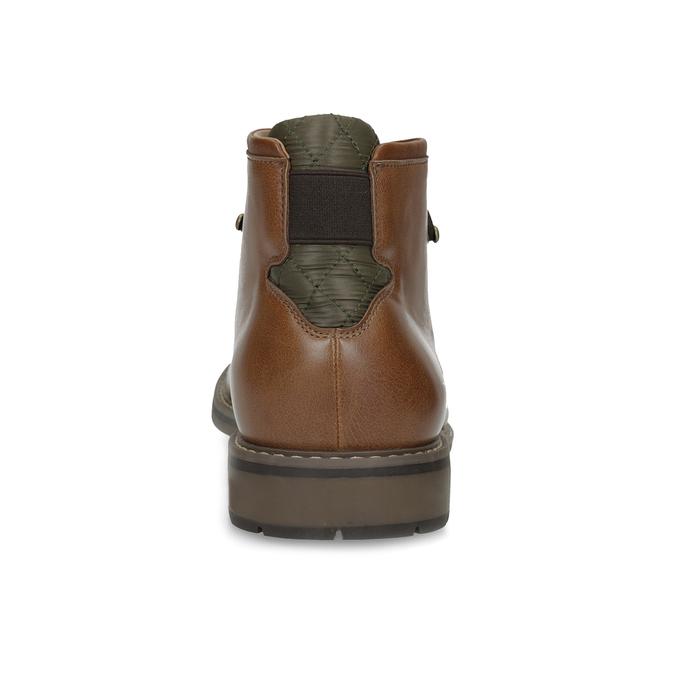 Brązowe obuwie męskie za kostkę, zelastycznymi wstawkami bata-red-label, brązowy, 821-3610 - 15