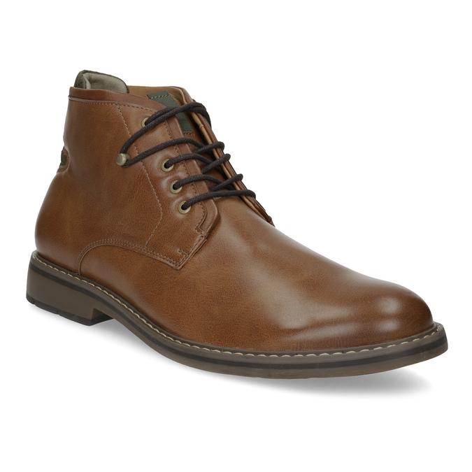 Brązowe obuwie męskie za kostkę, zelastycznymi wstawkami bata-red-label, brązowy, 821-3610 - 13