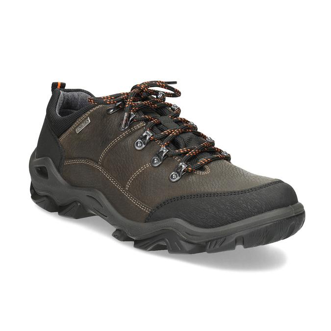 Skórzane obuwie męskie na grubej podeszwie weinbrenner, brązowy, 846-4806 - 13