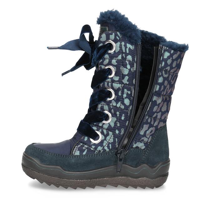 Śniegowce dziewczęce wpanterkę mini-b, niebieski, 299-9617 - 17