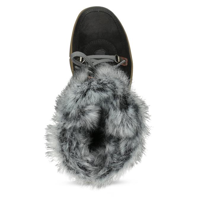 Czarne zimowe obuwie damskie zfuterkiem weinbrenner, czarny, 596-6755 - 17