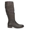 Brązowe skórzane kozaki zprzeszyciami bata, brązowy, 596-4700 - 19