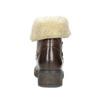 Skórzane botki damskie zfuterkiem bata, brązowy, 694-4669 - 15