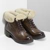 Skórzane botki damskie zfuterkiem bata, brązowy, 694-4669 - 26
